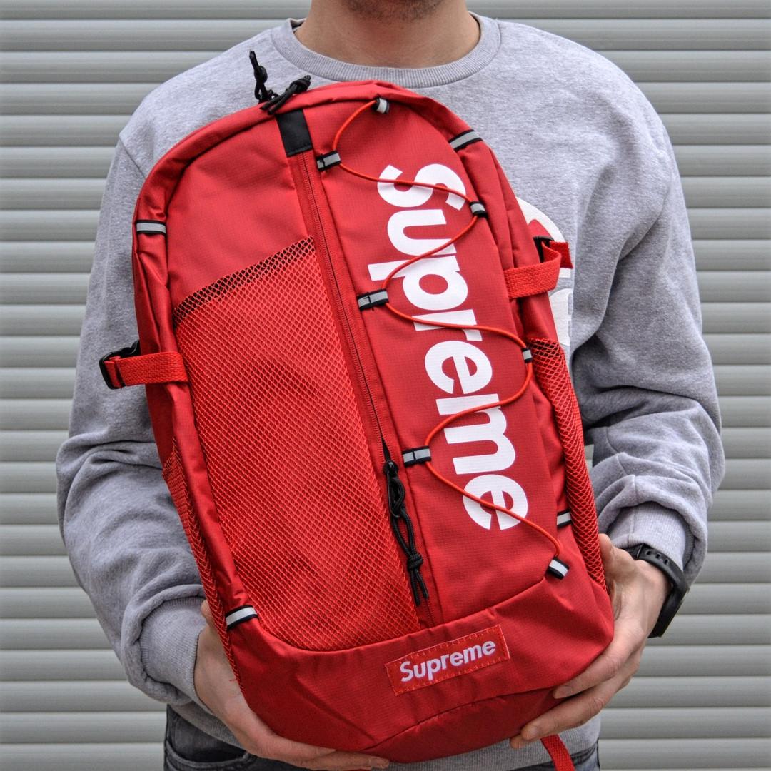 Рюкзак в стиле Supreme красный
