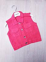 """Жилетка детская джинсовая стильная на девочку 1-4 года (4 цв)""""MARI"""" купить недорого от прямого поставщика"""