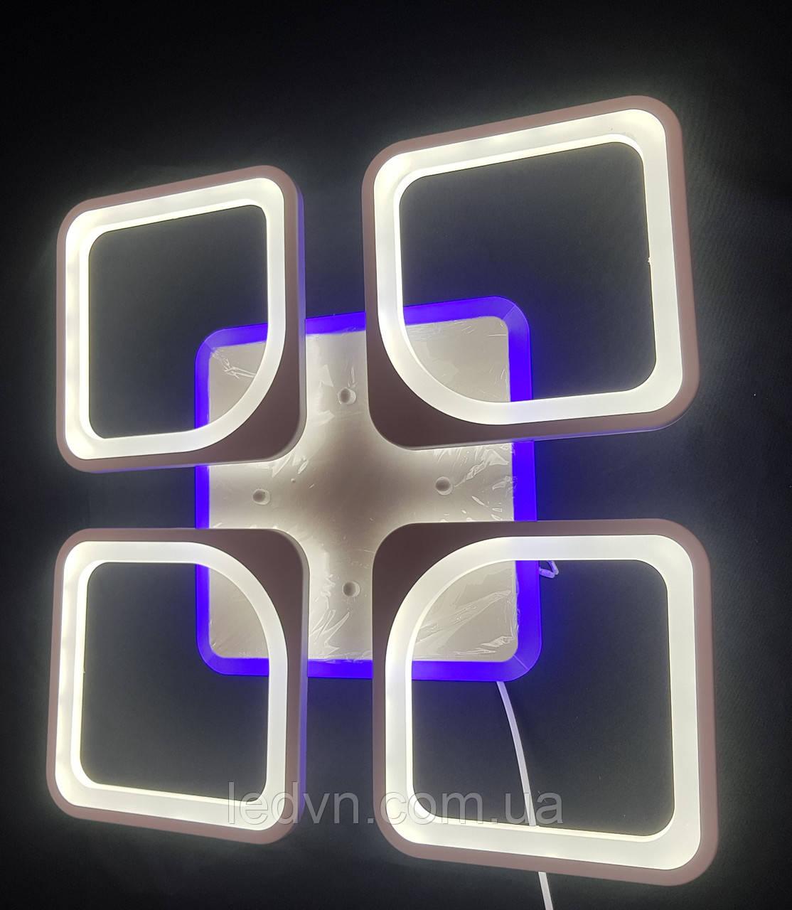 Светодиодная  люстра на 4 квадрата 110 ватт