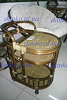Столик барный 2106 садовый натуральный ротанг
