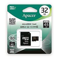 Карта памяти Apacer MicroSDHC 32GB Class 10 + SD-adapter