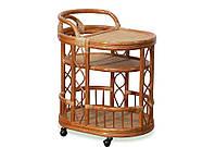Столик барный 2106 садовый натуральный ротанг коньяк