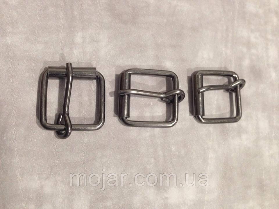 Пряжка сумочна  темний нікель  3.5х25х25