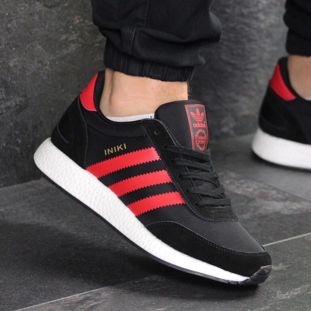 c3269757 Кроссовки мужские демисезонные Adidas Inki 7747 черные с красным ...