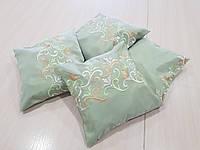 Комплект подушек оливковые с узором, 4шт , фото 1