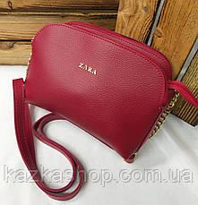 Женский клатч на три отдела, в стиле Zara (реплика) материал эко-кожа регулируемый ремень, фото 2