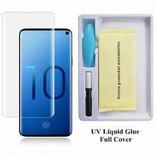 """Защитное стекло 3D """"UV"""" для Samsung S10 (Прозрачное)"""