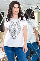Женская футболка с рисунокм 48-54, фото 1