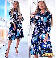 Красивое платье с цветочным принтом ММ-1903.02