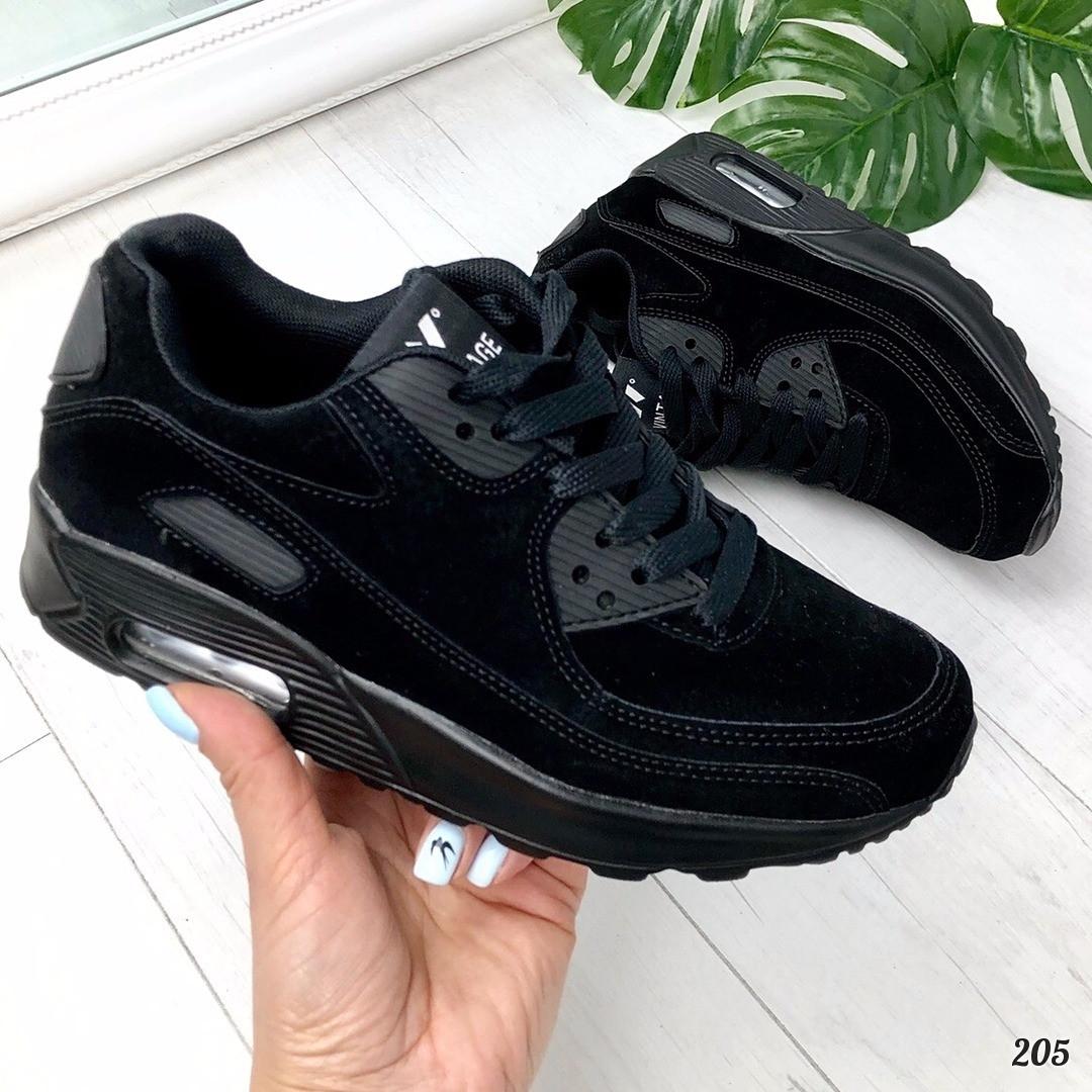 Кроссовки в стиле Nike черные. Аналог