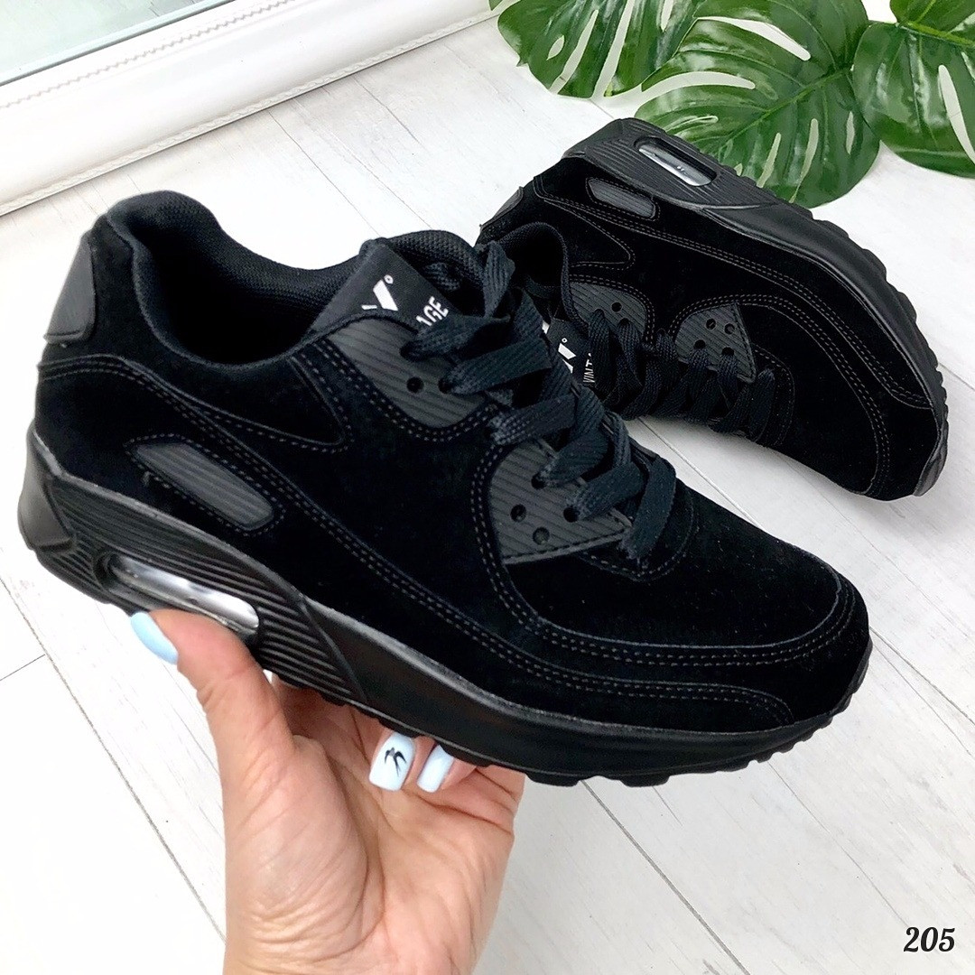 Кроссовки в стиле Nike черные. Аналог, фото 1