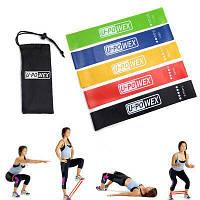 Фитнес резинки Fitness Fit Simplify Ленточный эспандер лента жгут (комплект из 5 штук)
