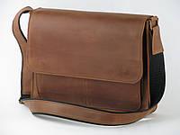 Кожаная мужская сумка, сумка для документов, мессенджер GS