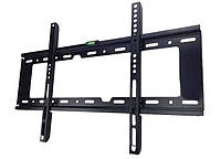 Настенный кронштейн для телевизоров от 32 до 70 диагонали Черный надежное крепление крепкая фиксация простой, фото 1
