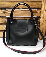 Женская сумка из эко-кожи без подклада с логотипом Michael Kors, ремень на цепочке, клапан на магните