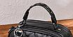 Сумка женская через плечо Femme с помпоном Серый, фото 2