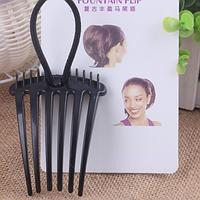 Гребень с резинкой для придания объема конскому хвосту черный