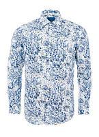 Рубашка мужская приталенная с цветочным узором Pierre Cardin оригинал!