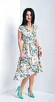 Платье летнее из коттона. Размеры: 48,50,52