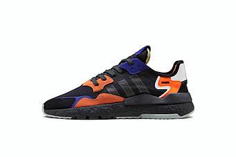 """Мужские кроссовки Adidas Nite Jogger """"Black/Orange/Blue"""" (люкс копия)"""