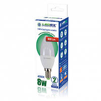Світлодіодна лампа Ledex C37-8W-E14-800lm-4000К-(LX-102871)