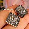 Мужские серебряные запонки с золотом Георгий Пообедоносец - Запонки мужские серебро с золотом, фото 9