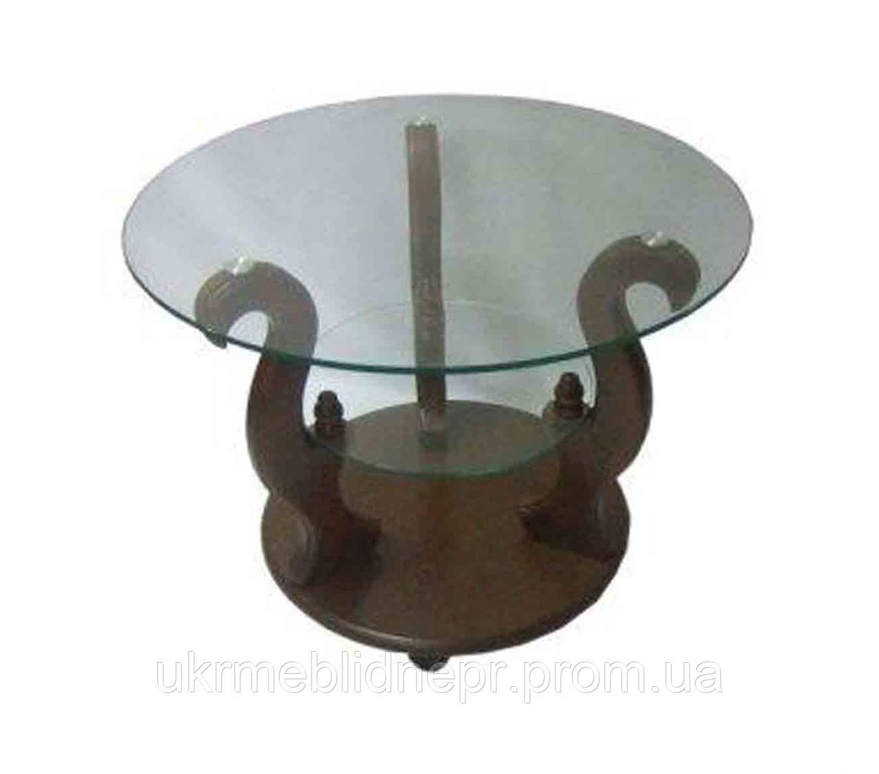 Стеклянный журнальный столик Версаль ДС- 7