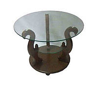 Стеклянный журнальный столик Версаль ДС- 7, фото 1