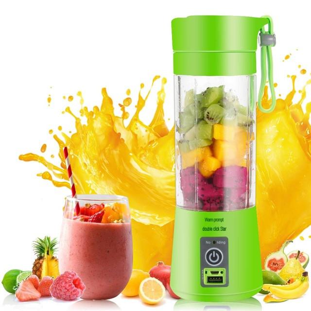 Портативный фитнес-блендер Smart Juice Cup с аккумулятором и USB зарядкой