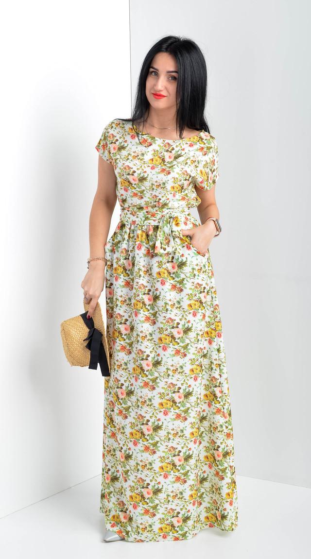 Женское летнее платье в пол. Размеры 48-50
