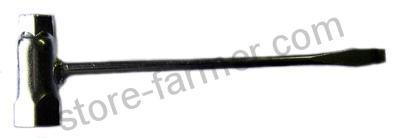 Ключ свечной (РАЗБОРКА) универсальный 13*19 плоск. Отвертка