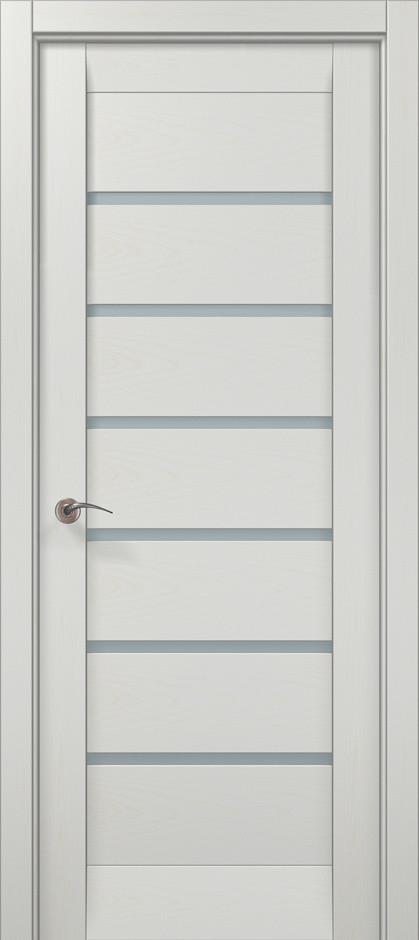 """Двери межкомнатные Папа Карло """"Millenium-14"""" ясень белый, фото 1"""