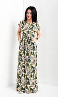 Красивое летнее платье в пол полотно - штапель. , фото 1