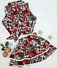 Детский костюм,  pазмер 98, 104, 110 принт цветы