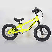 """Дитячий беговел 12""""(BRN)B-2 Yellow Air wheels"""