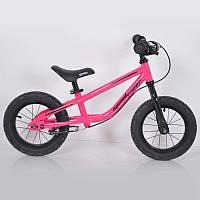 """Дитячий беговел 12""""(BRN)B-2 Pink Air wheels"""