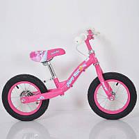 Дитячий беговел з ручним гальмом B-3.1 Pink