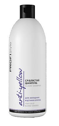 Шампунь Серебристый Profistyle антижелтый эффект для светлых и седых волос 500 мл, фото 2