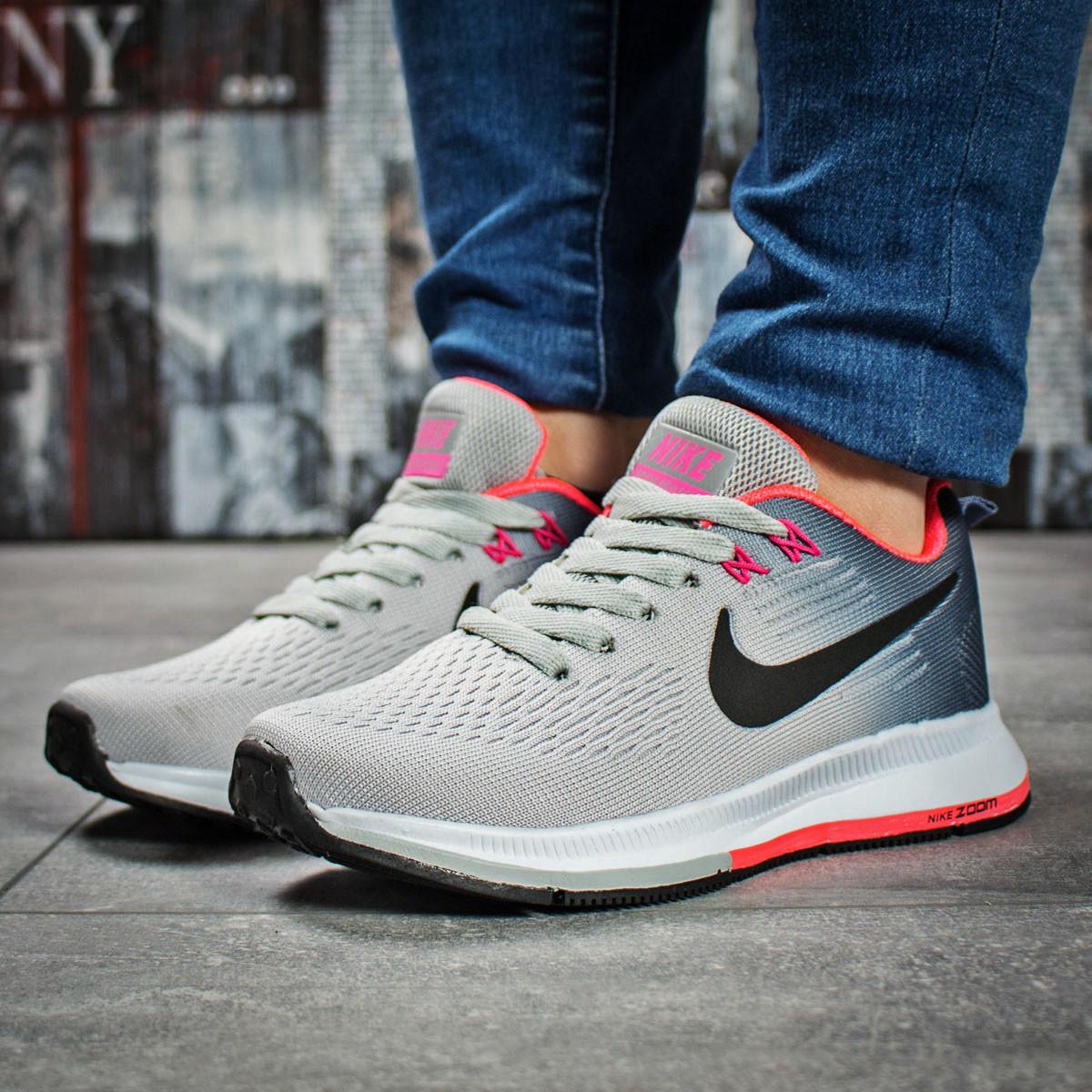 reputable site 61169 08c55 Женские кроссовки в стиле Nike Zoom Pegasus, текстиль, пена, серые 37 (23  см) - Bigl.ua