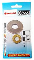 Ролик режущий для плиткореза 22 х 10,5 х 2 мм CORONA C8223