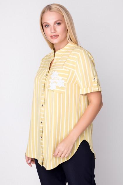 Женская рубашка больших размеров 50-60 Майя