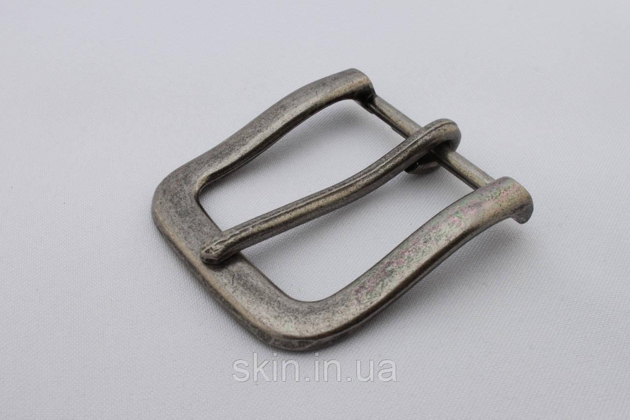 Пряжка ременная, ширина - 40 мм, цвет - старое серебро, артикул СК 5401