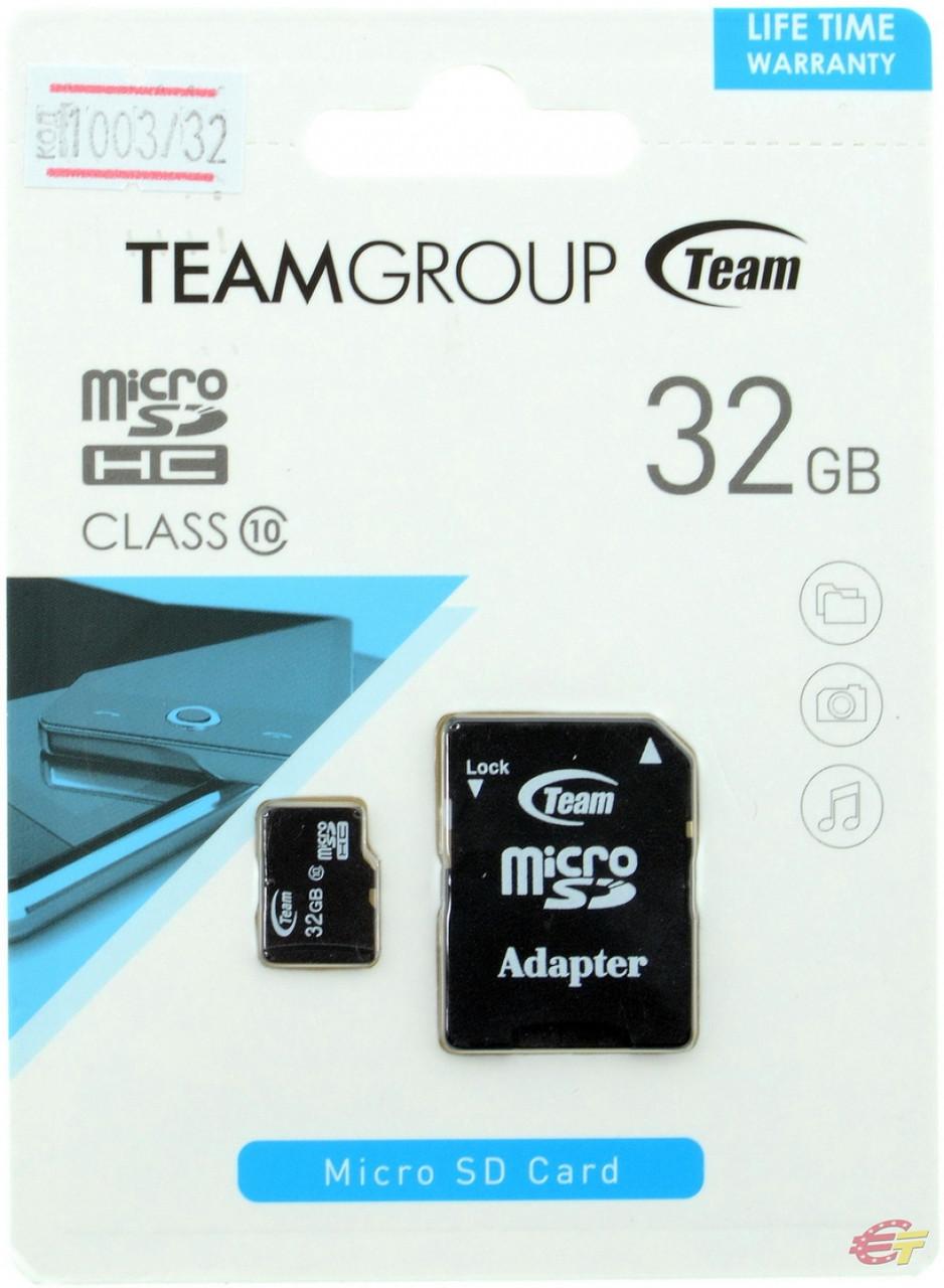 Карта памяти Team MicroSDHC 32GB Class 10
