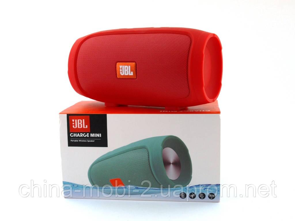 JBL Charge mini 4 копия, Bluetooth колонка с FM MP3, красная