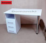Маникюрный стол с ящиками. Столешница прямая.