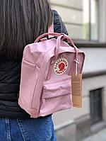 Рюкзак в стиле Fjallraven Kanken mini розовый