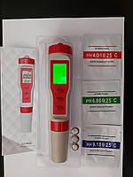 ТДС+РН+Ес+Темп,с подсветкой, 4-в-1, анализатор качества воды
