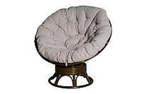 Плетеное кресло - качалка Папасан 2301В из натурального ротанга с мягкой подушкой