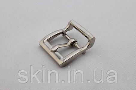 Пряжка сумочная, ширина - 20 мм, цвет - никель, артикул СК 5289, фото 2
