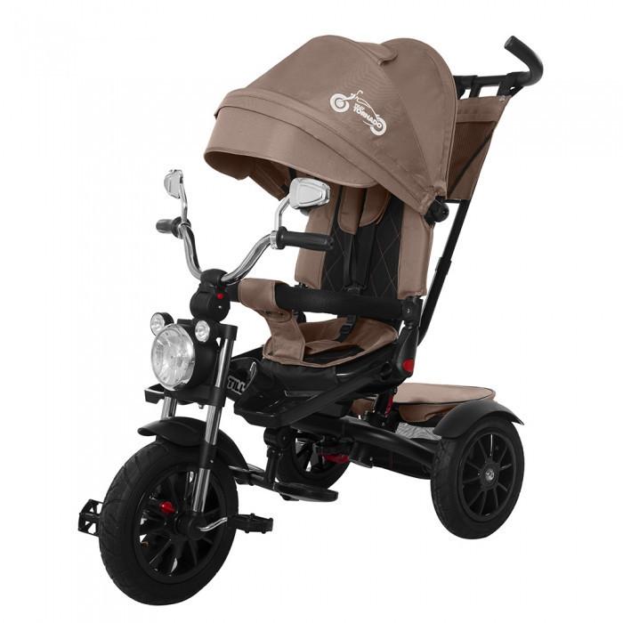 Велосипед трехколесный TILLY TORNADO T-383 Brown коричневый колеса резина